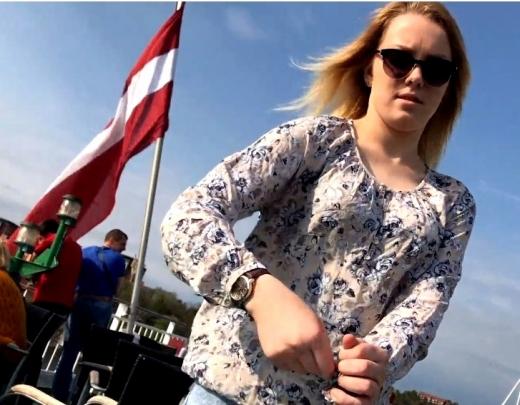 Latviešu meitenes izklaidējas uz Tallink kuģa. Necenzēts 18+